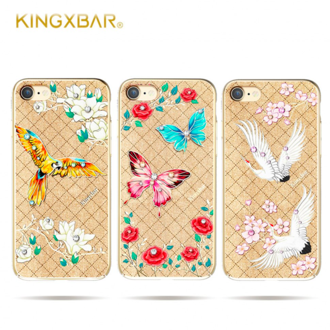 Чехол накладка Swarovski Kingxbar Fairy Land Butterfly для iPhone 7 Золото - Изображение 8203