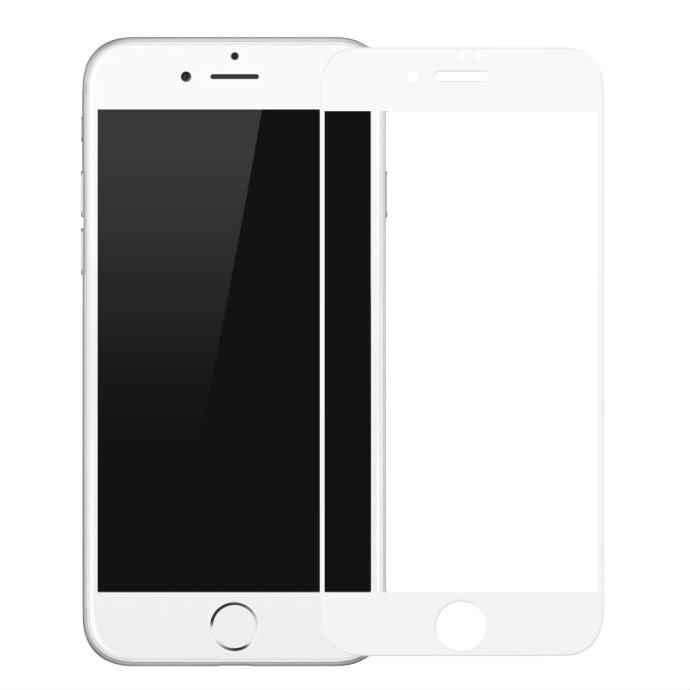 Защитное стекло Baseus 0.2mm Tempered Glass для iPhone 7 Plus Белое - Изображение 36700