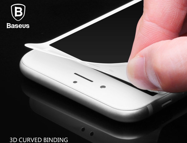 Защитное стекло Baseus 0.2mm Tempered Glass для iPhone 7 Plus Белое - Изображение 36716