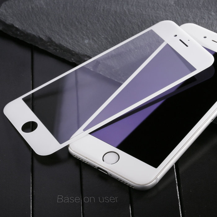 Защитное стекло Baseus Anti-bluelight 0.2mm Tempered Glass для iPhone 7 Plus Белое - Изображение 36768