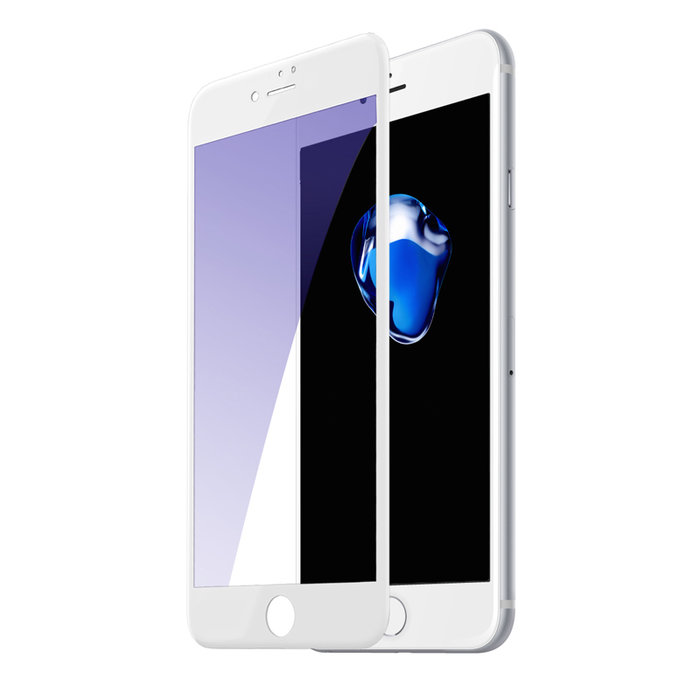 Защитное стекло Baseus Anti-bluelight 0.2mm Tempered Glass для iPhone 8 Plus Белое - Изображение 36778