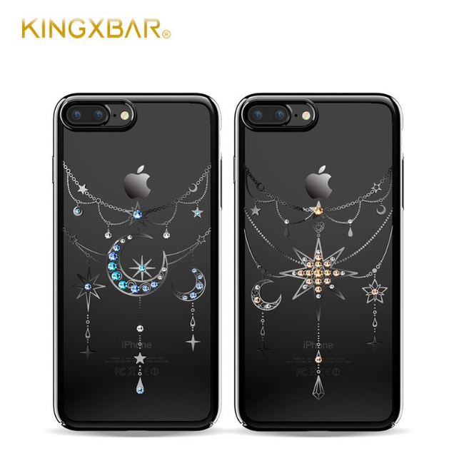 Чехол накладка Swarovski Kingxbar Twinkling Moon Black для iPhone 7 Plus Черный - Изображение 8297