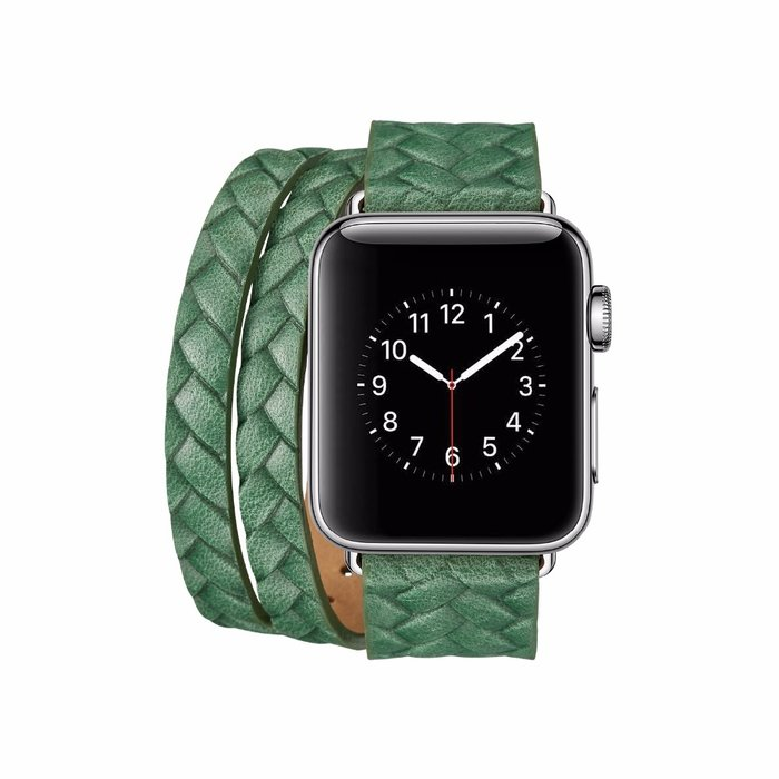 Кожаный ремешок Genuine Leather Band для Apple Watch 1 / 2 / 3 (42мм) Зеленый - Изображение 39668