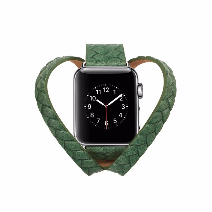Кожаный ремешок Genuine Leather Band для Apple Watch 1 / 2 / 3 (42мм) Зеленый - Изображение 39672