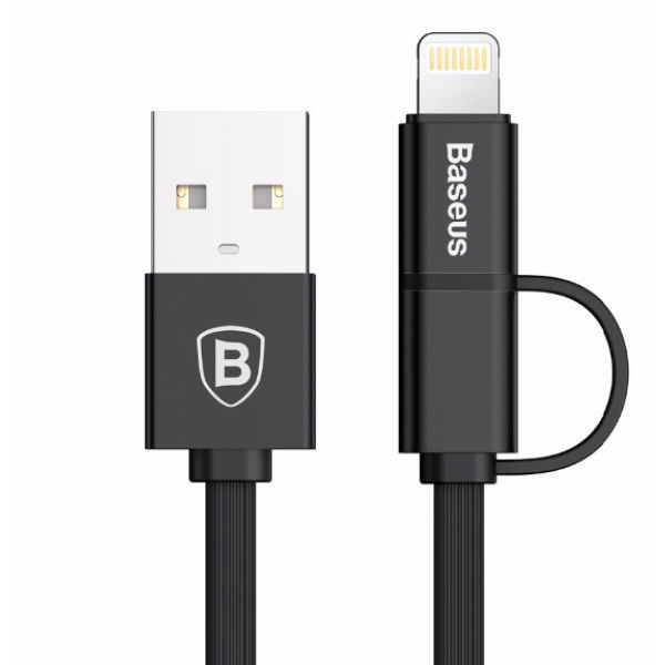 Кабель Baseus Flexible Certified Micro-USB + Lightning 75см Золотой - Изображение 39994