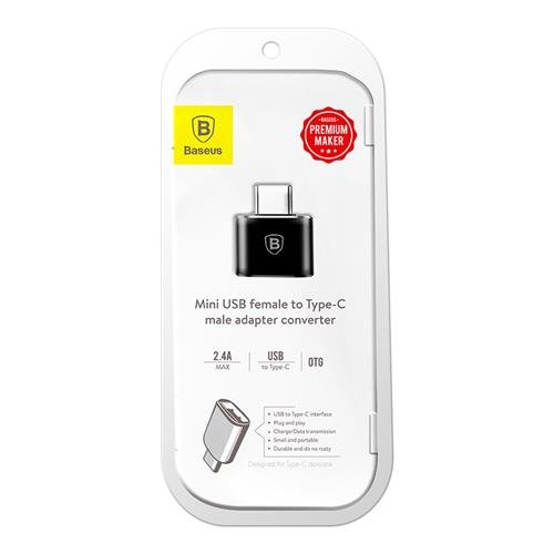 Переходник Baseus Adapter Converter USB - Type-C Черный - Изображение 40212