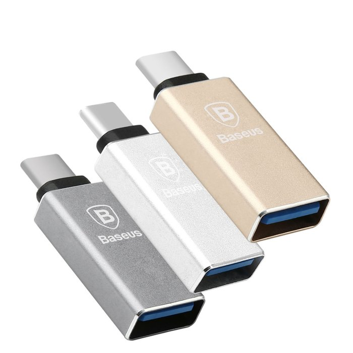 Переходник Baseus Sharp Series USB - Type-C Серебро - Изображение 40402
