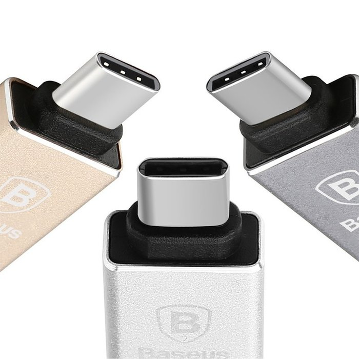 Переходник Baseus Sharp Series USB - Type-C Серебро - Изображение 40404