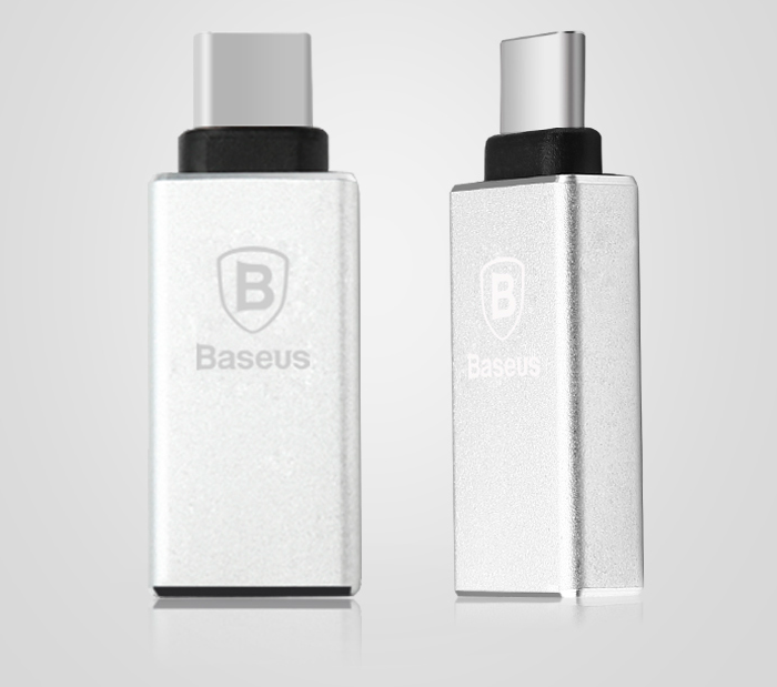 Переходник Baseus Sharp Series USB - Type-C Серебро - Изображение 40410