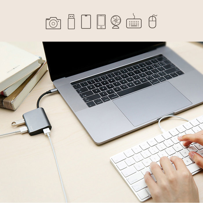 Переходник Baseus Enjoyment Series USB - Type-C Серебро - Изображение 40454