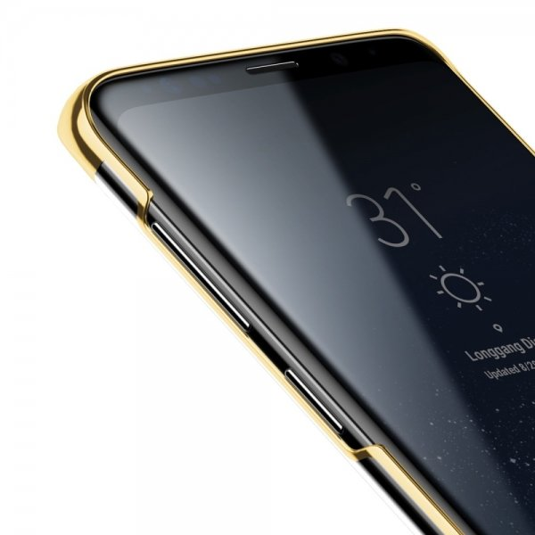 Чехол накладка Baseus Glitter для Samsung Galaxy S9 Plus Золото - Изображение 40728