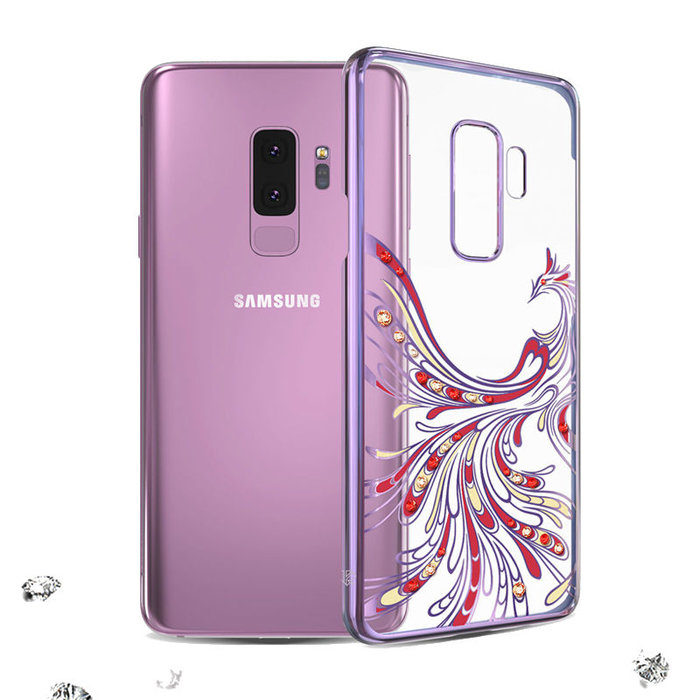 Чехол накладка Swarovski Kingxbar Flying Series для Samsung Galaxy S9 Plus Фиолетовый - Изображение 43020