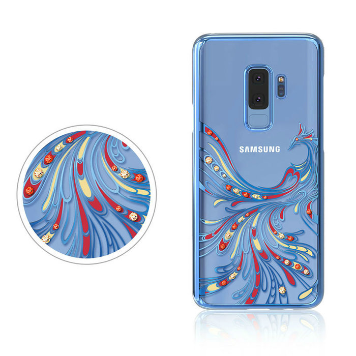 Чехол накладка Swarovski Kingxbar Flying Series для Samsung Galaxy S9 Plus Фиолетовый - Изображение 43022