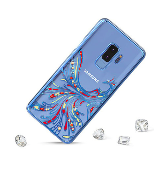 Чехол накладка Swarovski Kingxbar Flying Series для Samsung Galaxy S9 Plus Фиолетовый - Изображение 43024