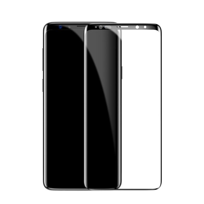 Защитное стекло Baseus 0.3mm Tempered Glass для Samsung Galaxy S9 Чёрное - Изображение 43864
