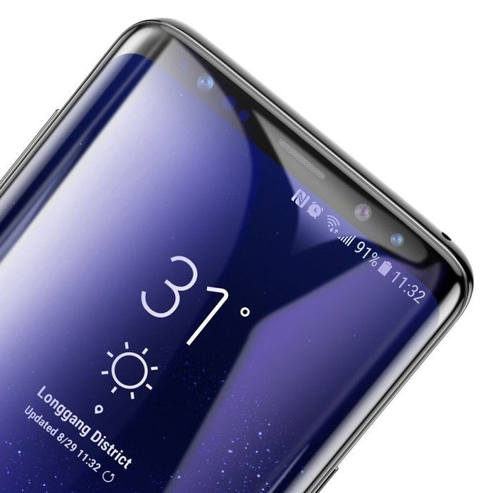 Защитное стекло Baseus 0.3mm Tempered Glass для Samsung Galaxy S9 Чёрное - Изображение 43870