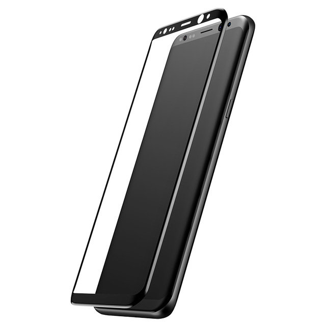 Защитное стекло Baseus 3D Glass 0.3mm для Samsung Galaxy S8 Plus Черное - Изображение 43926