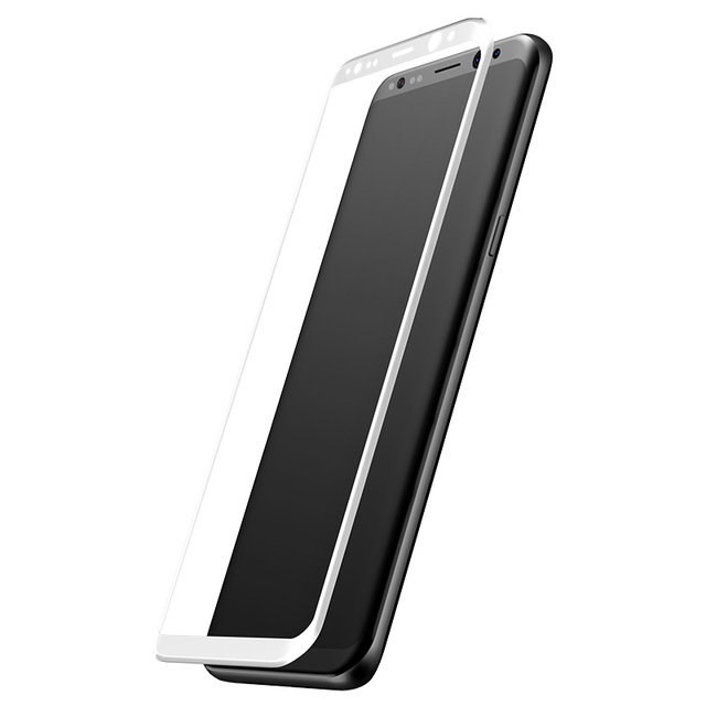 Защитное стекло Baseus 3D Glass 0.3mm для Samsung Galaxy S8 Plus Серебро - Изображение 43992