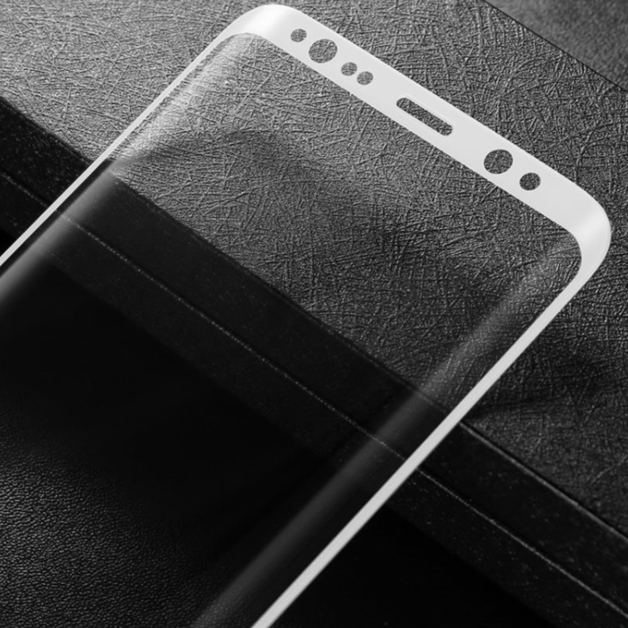 Защитное стекло Baseus 3D Glass 0.3mm для Samsung Galaxy S8 Plus Серебро - Изображение 44000