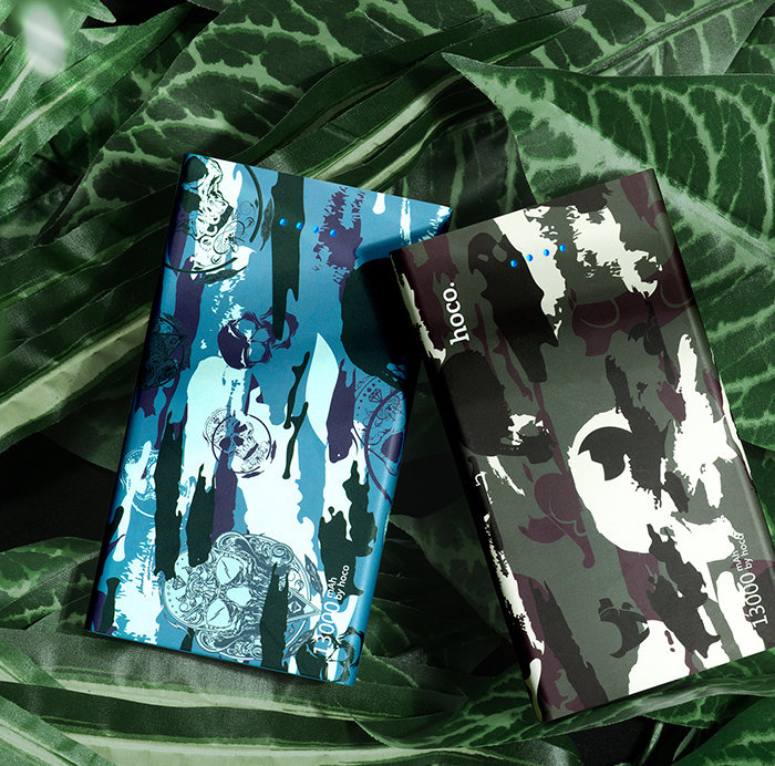 Внешний аккумулятор Power Bank Hoco Camouflage 20000 mAh Зеленый - Изображение 59043