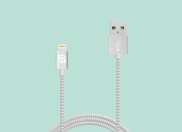 Кабель REQUIRED Braided MFI Lightning to USB для iPhone Серый