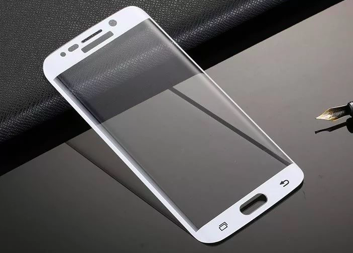 Стекло защитное Aegis 3D Curved Full Cover 3D Glass для Galaxy S6 Edge Белое - Изображение 59521