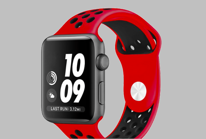 Ремешок спортивный Dot Style для Apple Watch 38mm Красно-Черный - Изображение 59815