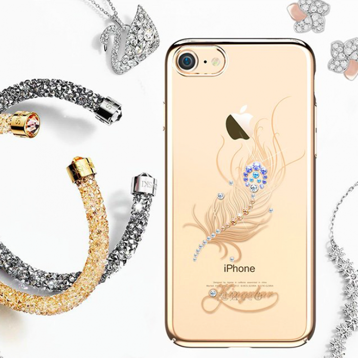 Чехол накладка Swarovski Kingxbar Classic Gold Plumage для iPhone 7 Plus Золото - Изображение 100489