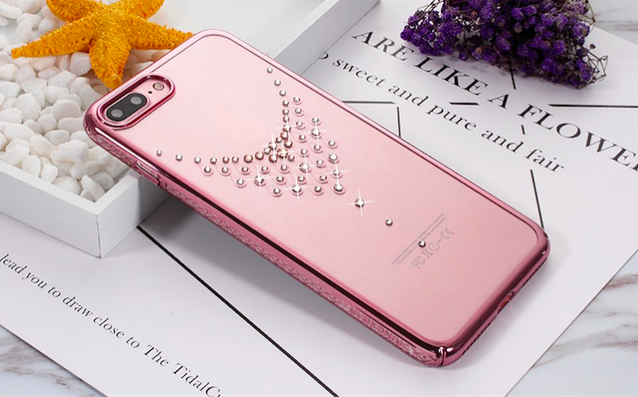 Чехол накладка Swarovski Kingxbar Starry Sky Rose Dew для iPhone 7 Plus Розовый - Изображение 100510