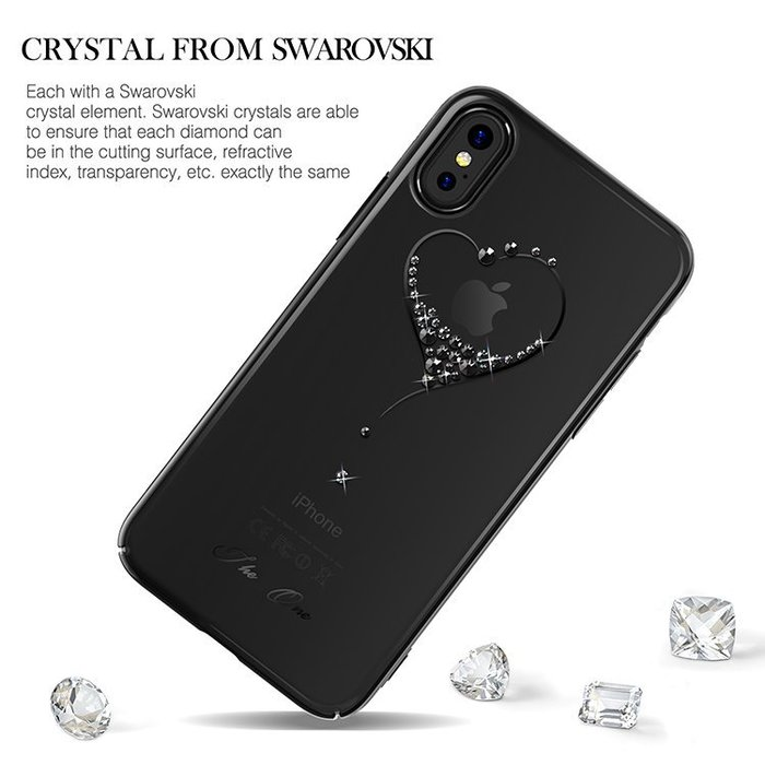 Чехол накладка Swarovski Kingxbar Wish Series для iPhone X Черный - Изображение 12213