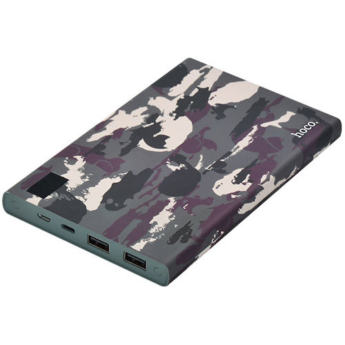 Внешний аккумулятор Power Bank Hoco Camouflage 20000 mAh Зеленый - Изображение 13983