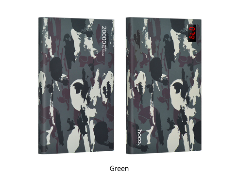 Внешний аккумулятор Power Bank Hoco Camouflage 20000 mAh Зеленый - Изображение 13993