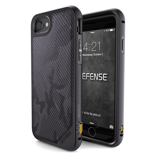 Чехол X-Doria Defence Lux для iPhone 8 / 7 Gray Desert Camo - Изображение 15777