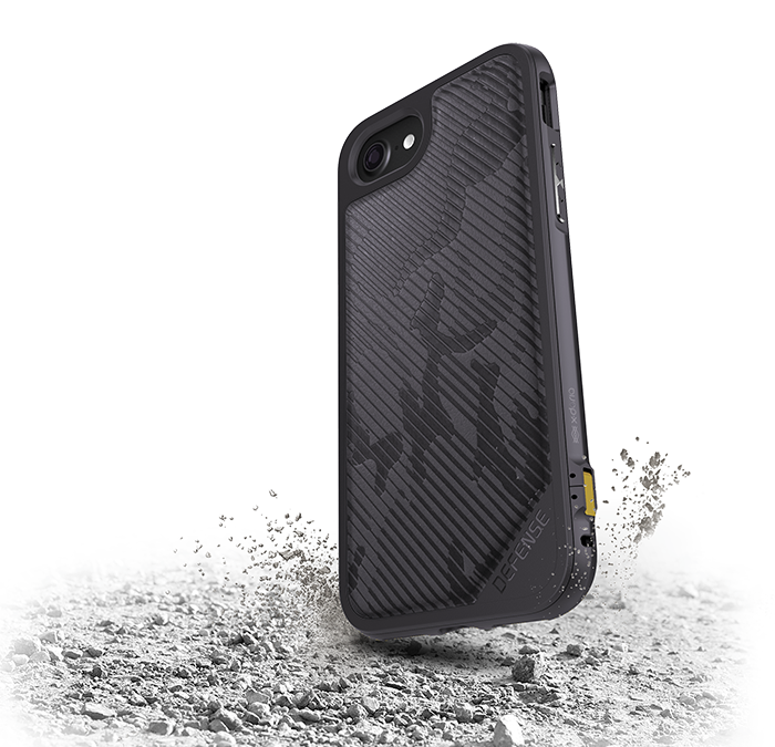 Чехол X-Doria Defence Lux для iPhone 8 / 7 Gray Desert Camo - Изображение 15781