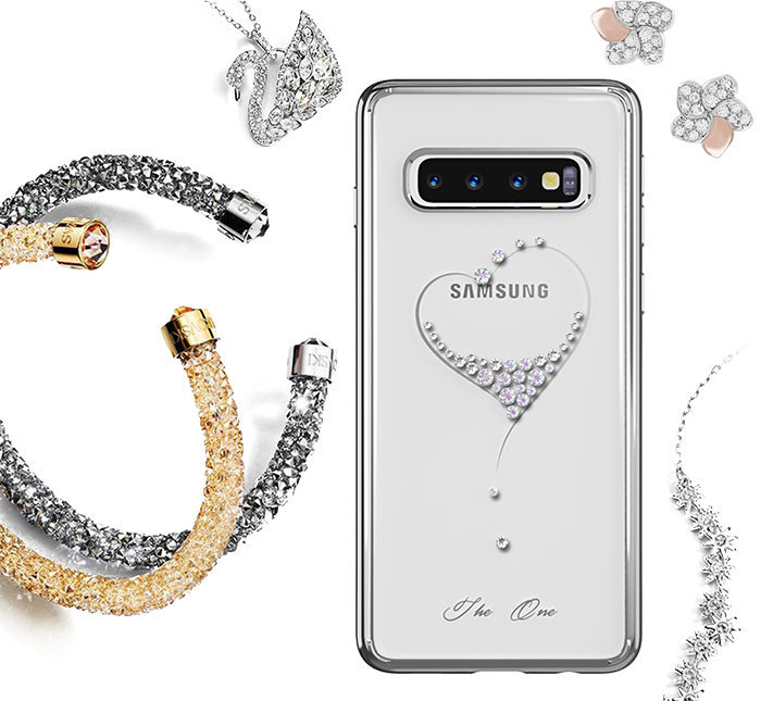 Чехол накладка Swarovski Kingxbar Wish Series для Samsung Galaxy S10 Золотой - Изображение 119697