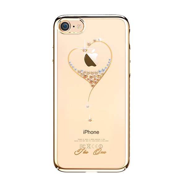 Чехол накладка Swarovski Kingxbar Starry Sky Gold Heart для iPhone 7 Золото - Изображение 16553