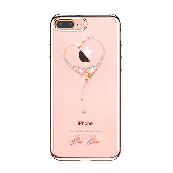 Чехол накладка Swarovski Kingxbar Starry Sky Rose Heart для iPhone 7 Plus Розовый - Изображение 18941