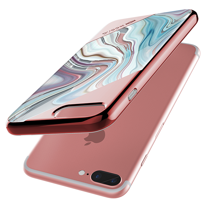 Чехол накладка X-Doria Revel Lux Rose Gold Swirl для iPhone 8 Plus Розовый - Изображение 19467