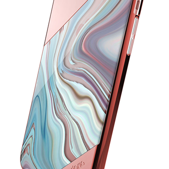 Чехол накладка X-Doria Revel Lux Rose Gold Swirl для iPhone 8 Plus Розовый - Изображение 19469