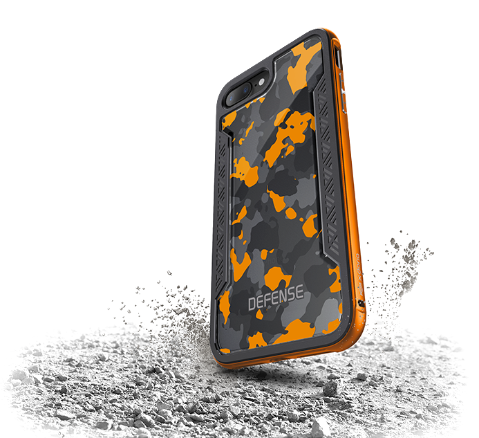 Чехол накладка X-Doria Defence Shield для iPhone 8 Plus Оранжевый - Изображение 19751