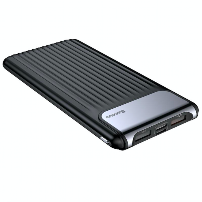 Внешний аккумулятор Power Bank Baseus Thinnest Dual Output 10000 mAh Черный - Изображение 32925