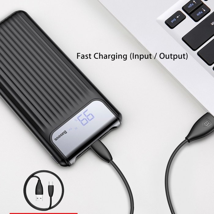 Внешний аккумулятор Power Bank Baseus Thinnest Dual Output 10000 mAh Черный - Изображение 32941