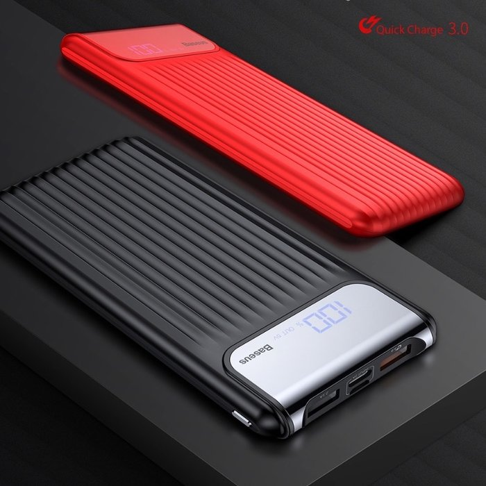 Внешний аккумулятор Power Bank Baseus Thinnest Dual Output 10000 mAh Черный - Изображение 32951