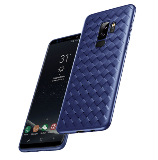 Чехол накладка Baseus BV Weaving Case для Samsung Galaxy S9 Plus Синий - Изображение 33285