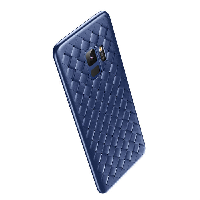 Чехол накладка Baseus BV Weaving Case для Samsung Galaxy S9 Plus Синий - Изображение 33287