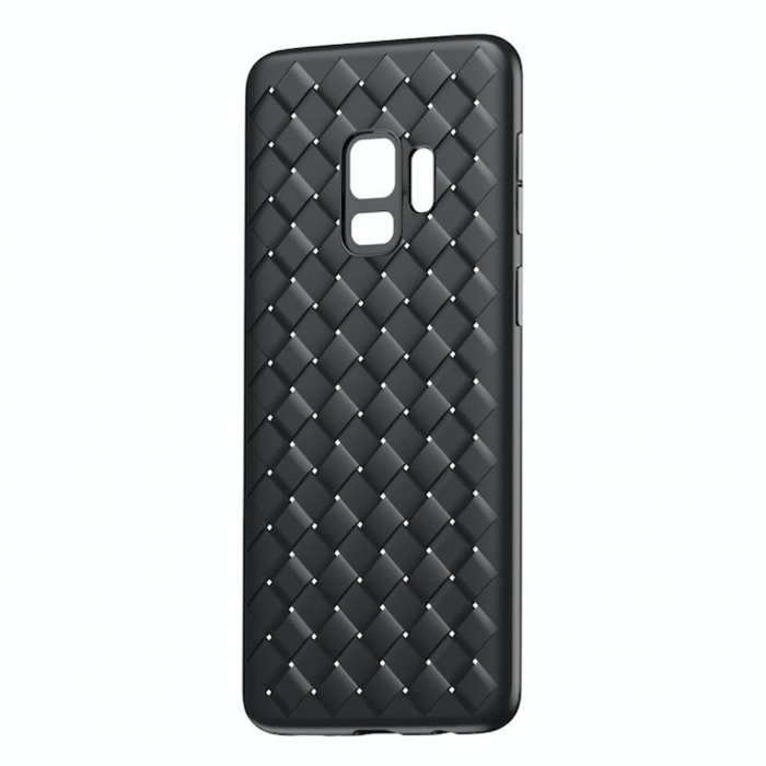 Чехол накладка Baseus BV Weaving Case для Samsung Galaxy S9 Plus Черный - Изображение 33307
