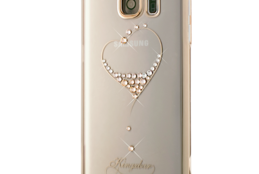 Чехол Swarovski Starry Sky Gold для Galaxy S7 Edge Heart