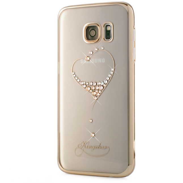 Чехол Swarovski Starry Sky Gold для Galaxy S7 Edge Heart - Изображение 7935