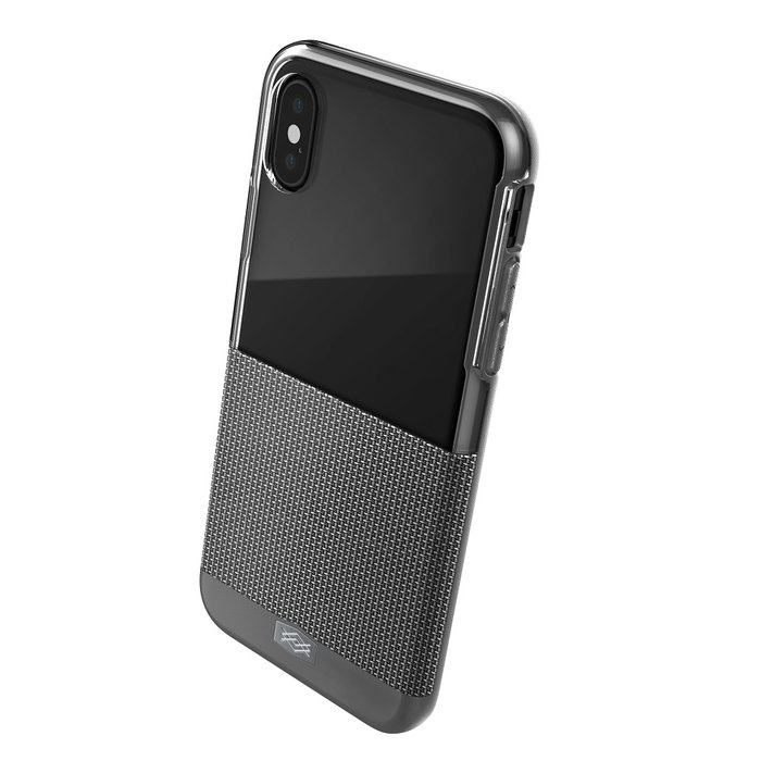 Чехол накладка X-Doria Dash Case для iPhone X Серый нейлон - Изображение 34941