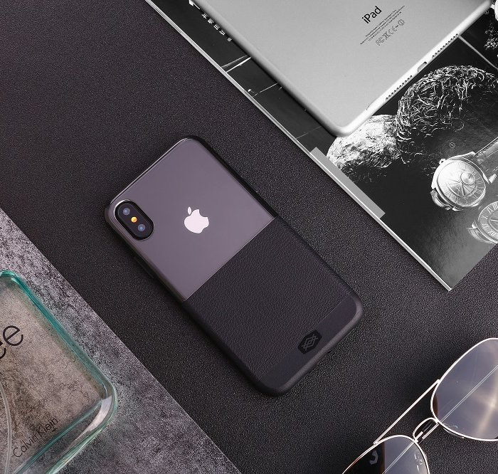 Чехол накладка X-Doria Dash Case для iPhone X Серый нейлон - Изображение 34947